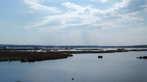 Ausblick auf Kummerower See auf Radtour Familie Sommersdorf-Verchen-Dargun