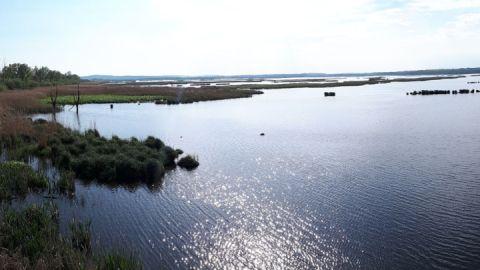 Ausblick auf Kummerower See auf Radtour Familie Sommersdorf-Verchen-Neukalen